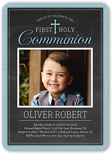 First Holy Boy Communion Invitation