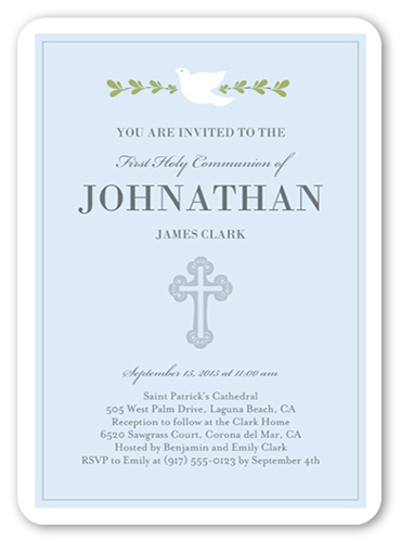 Graceful Dove Communion Invitation, Square