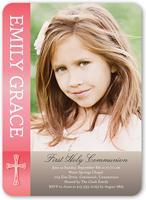 communion cheer girl communion invitation 5x7 flat