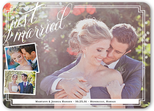 Breathtaking Memories Wedding Announcement