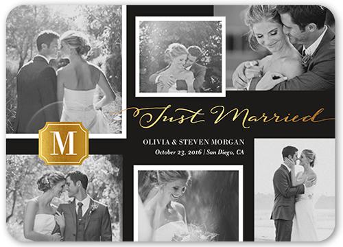 Brilliant Monogram Collage Wedding Announcement