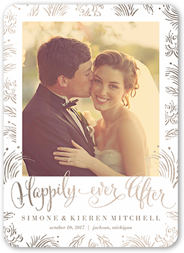 Whimsy Ever After Wedding Announcement, Rounded Corners