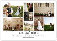 clean collage wedding announcement 5x7 flat