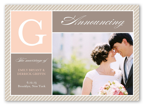 Charmed Monogram Wedding Announcement