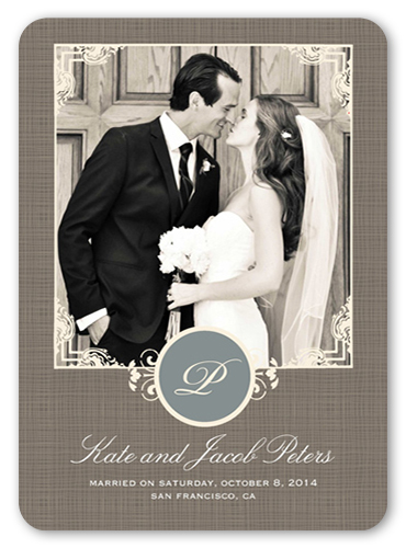 Sealed With Love Wedding Announcement