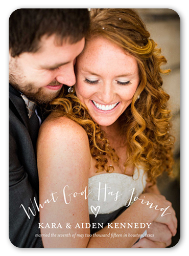 Eternal Bond Wedding Announcement, Rounded Corners