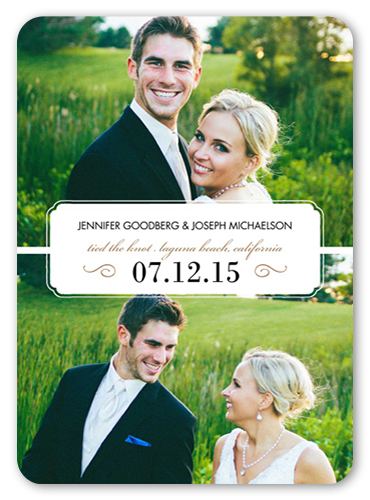 Seal Of Love Wedding Announcement