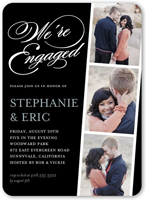 linked for life engagement party invitation 5x7 flat