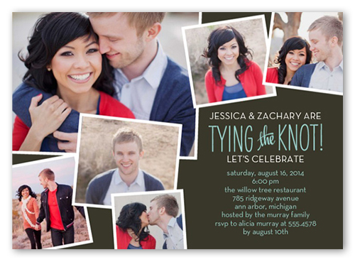 Perfect Knot Engagement Party Invitation, Square Corners