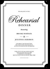 elegant commitment rehearsal dinner invitation 5x7 flat