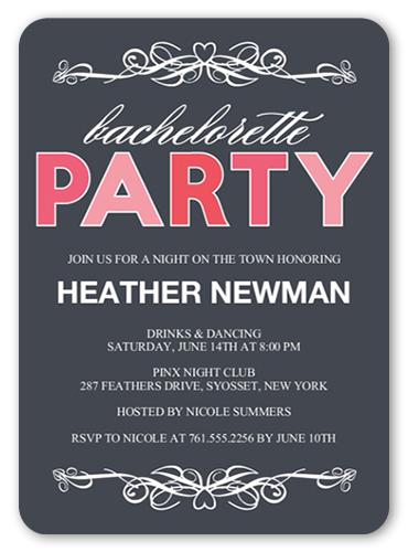 Big Bright Party Bachelorette Party Invitation