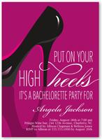 stylish stiletto bachelorette party invitation 5x7 flat