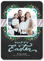 floral photo frame easter card 5x7 flat