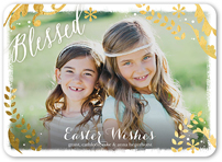 blessed frame easter card 5x7 flat