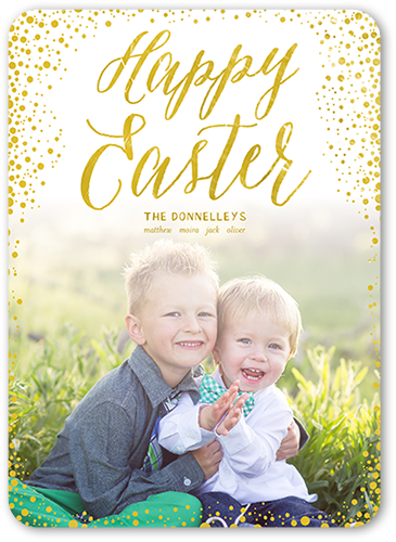 Easter Confetti Easter Card, Rounded Corners