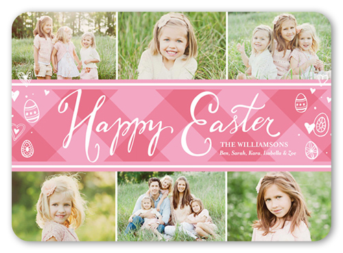 Preppy Collage Easter Card, Rounded Corners