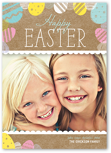 Easter Egg Stamps Easter Card, Square Corners