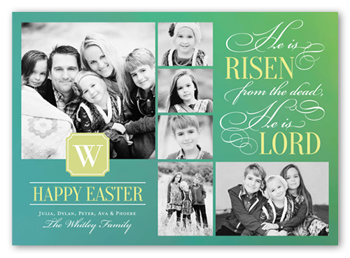 He is Lord Easter Card, Square Corners