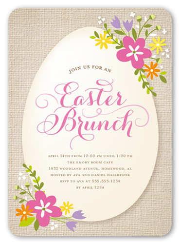 easter blooms easter party invitations shutterfly