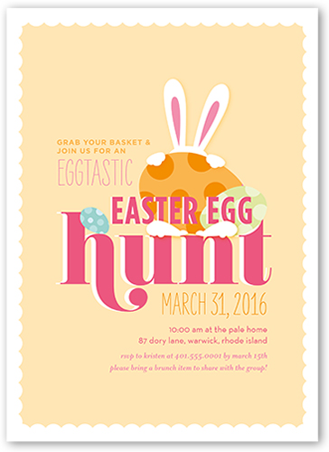 Eggtastic Egg Hunt Easter Invitation, Square Corners