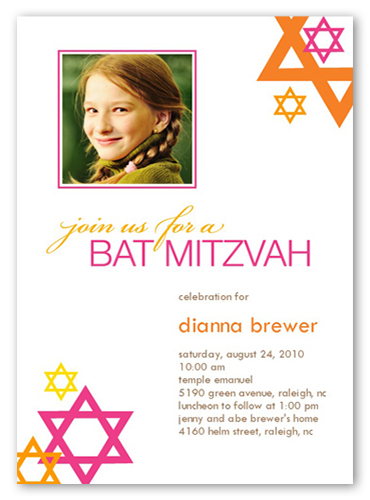Bat Mitzvah Mod Bat Mitzvah Invitation