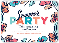 festive color summer invitation 5x7 flat