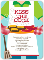kiss the cook summer invitation 5x7 flat