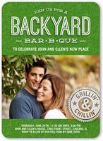 backyard bbq summer invitation 5x7 flat