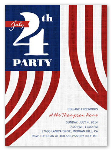 BBQ And Fireworks Summer Invitation, Square Corners