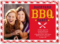 backyard party summer invitation 5x7 flat