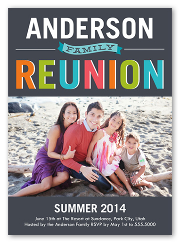 Colorful Reunion Surprise Party Invitations