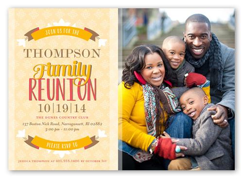 Reunion Banner Summer Invitation, Square Corners