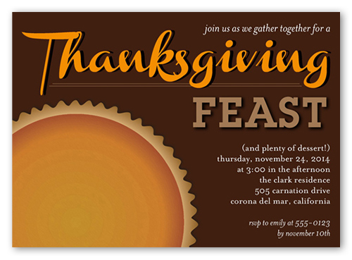 Feast On Pie Fall Invitation, Square Corners