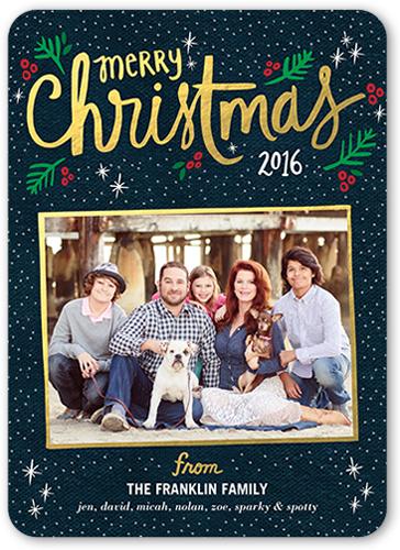 Sparkling Stars Christmas Card