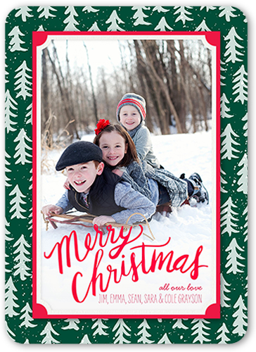 Frosted Tree Frame 5x7 Stationery Card by Petite Lemon | Shutterfly