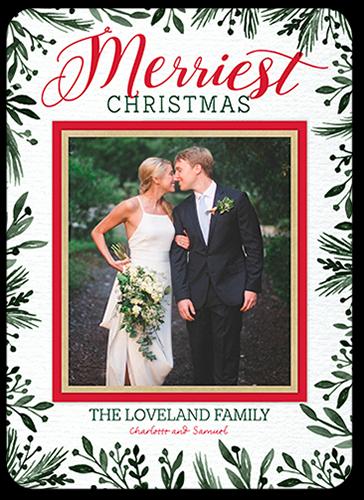 Merriest Border Christmas Card