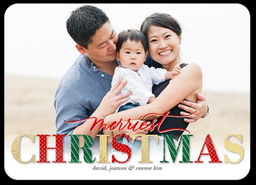 Merry Seasonal Bling Christmas Card
