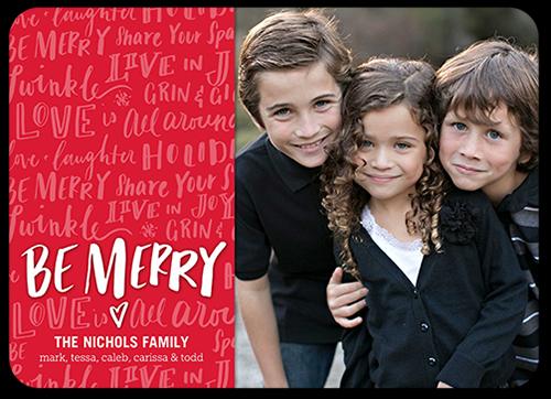 Be Merry Overlay Christmas Card