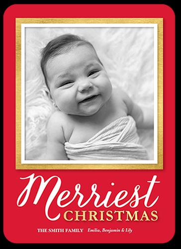 Simple Gilded Frame Christmas Card