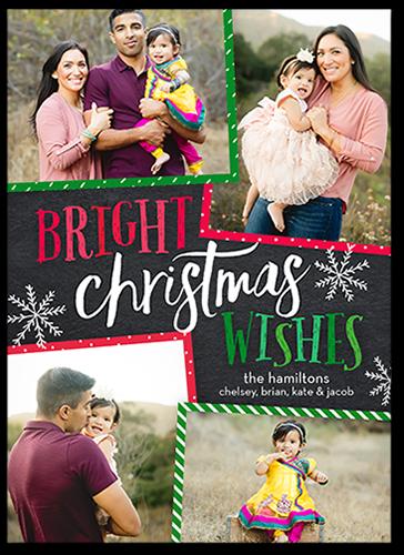 Colorful Fun Christmas Card, Square Corners