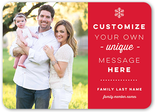 Personalized Greeting Christmas Card