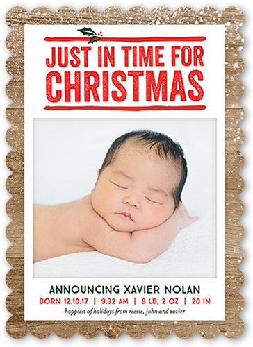 Just In Time Christmas Card