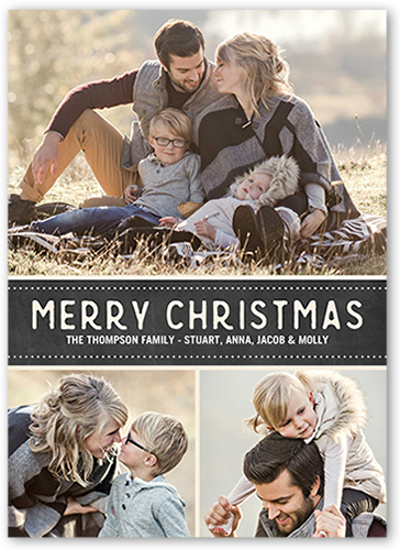 merry dotted banner 5x7 christmas cards shutterfly - Shutterfly Christmas Cards