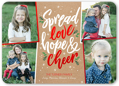Spreading Love Christmas Card, Rounded Corners