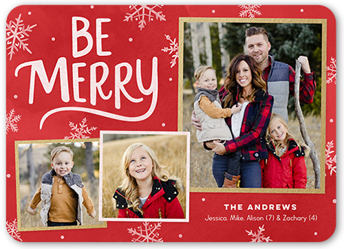 Bold Be Merry Christmas Card