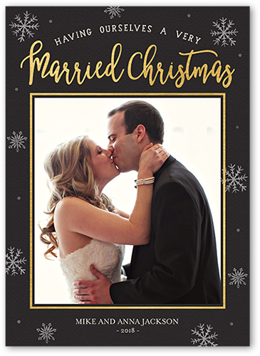 Married Flurries Christmas Card