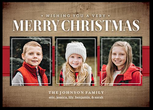Wishing Overlay Frame Christmas Card, Square Corners