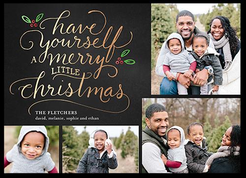 Seasonal Script Greeting Christmas Card, Square