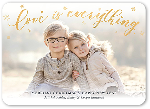 Misted Love Christmas Card, Rounded Corners