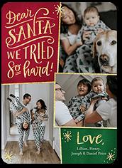 dear santa christmas card